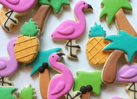 一组美味卡通的糖霜饼干图片