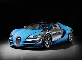 蓝色限量版汽车布加迪威龙高清图片