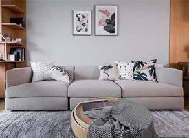 90平现代简约家居设计 