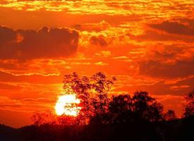 一组壮美的夕阳美景图片