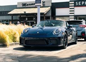 保时捷911 Speedster深海蓝,这颜色很舒服
