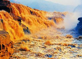 著名的山西临汾壶口瀑布图片