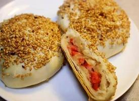 一组酥脆美味的烧饼图片