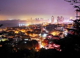 一组漂亮的青岛夜景图片