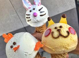 卡通兔头冰淇淋甜品超级可爱