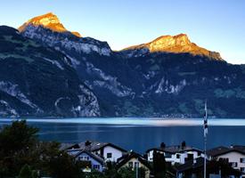 一组美丽的阿尔卑斯山图片