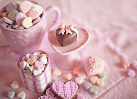 五彩的各式糖果图片