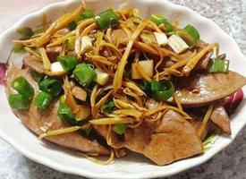 麻油猪肝美食图片