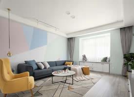 大户型绿色清新北欧风格装修的家