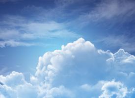 一组漂亮的蓝天白云图片