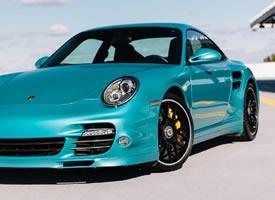 奢华帅气的蓝色保时捷911图片欣赏