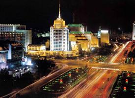 灯光璀璨的北京夜景图片
