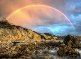 一组绚丽好看的彩虹图片