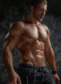 欧美肌肉猛男性感个人写真图片