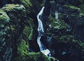 冰岛羽毛峡谷,犹如一幅油画