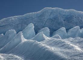 南极冰川的美