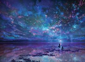 浩瀚璀璨的星空图片