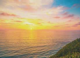海边黄昏,就一个字 —— 美