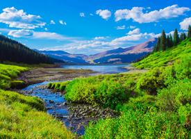 青山绿水唯美自然风景图片