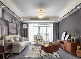 130㎡现代混搭风三居室,大气明亮的设计