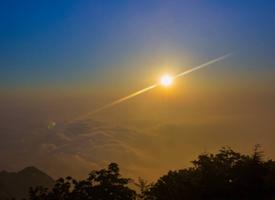 一组泰山上的日出图片