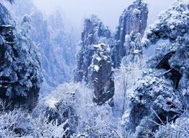 美轮美奂的张家界雪景图片