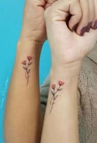 适合和闺蜜一起纹的小清新纹身