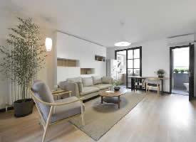 80㎡现代风格装修,简单素雅的居住环境