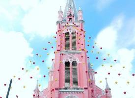 位于越南胡志明市的粉色教堂——耶稣圣心堂