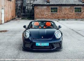 保时捷Porsche Speedster 橘色,太有