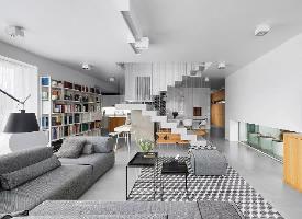 现代极简loft纯净素浅的个性公寓