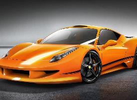 橙黄色兰博基尼超级跑车图片