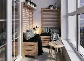 封闭式阳台的创意设计,体验惬意休闲时光