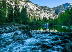 细水长流的美国国家公园风景图片