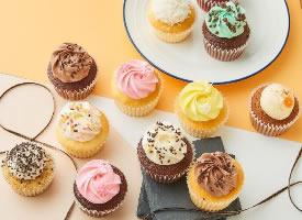 一组色彩明快干净的甜品摄影图片