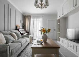 68㎡清爽美式两居室设计