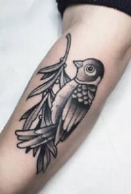 一组欧美特色的手臂纹身图案