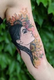 一组法国浪漫纹身图案欣赏