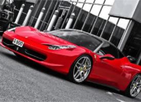 红色法拉利458高清摄影图片