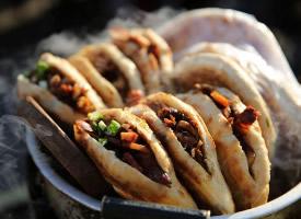 一组爽口好吃的肉夹馍图片