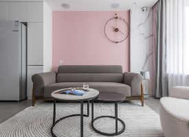 89㎡温馨粉嫩现代风两居室设计