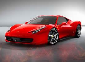 时尚炫酷红色法拉利跑车图片
