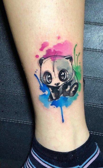 点击大图看下一张:一组超可爱彩绘的手臂纹身图案