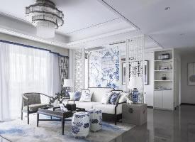 青花案,优雅中国白中式风格