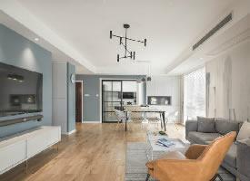 106㎡北欧风格三居室装修设计