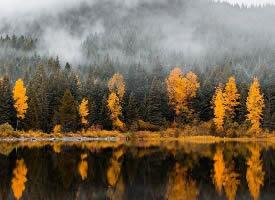 湖水映照每一场四季的更迭