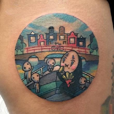 点击大图看下一张:一组手臂可爱的彩色纹身图案