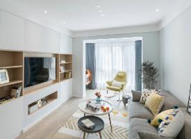 彩色清新三居室北欧简约风格装修的家