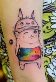一组可爱卡通女生纹身图案