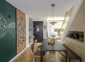一套110平米北欧风格复式之家